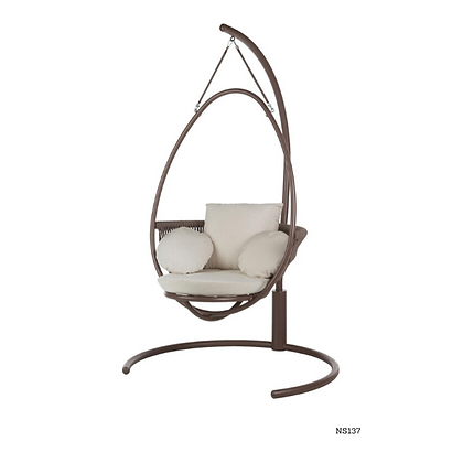 Handmade Metal and Rattan Point Rocking Swing - NS137