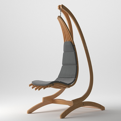 Handmade Wooden Wave Lounge Swing Chair, Prime Design