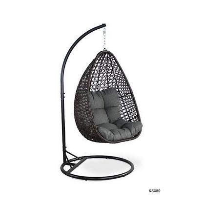Handmade Rattan, Wicker Egg Swing Chair for Indoor, Outdoor  -NS89