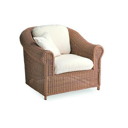 Handmade Wicker Kabir Brown Arm Lounge Chair