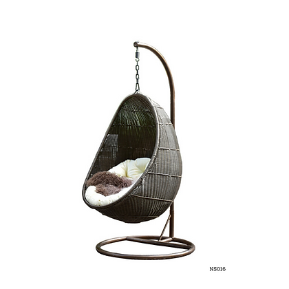 Handmade Rattan, Wicker Hanging Egg Swing Chair for Room - NS16
