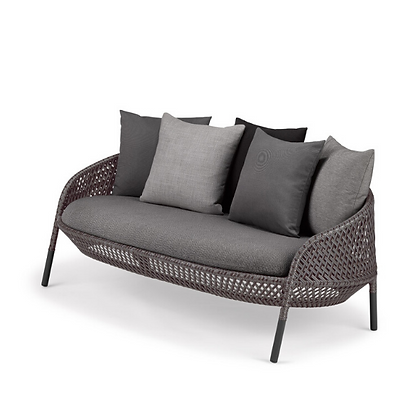 Handmade Wicker Hasna Graphite 2 Seater Sofa