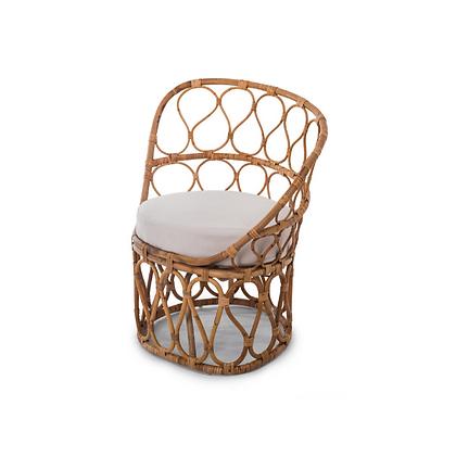 Handmade Natural Rattan Fairy Haloke  Arm Chair