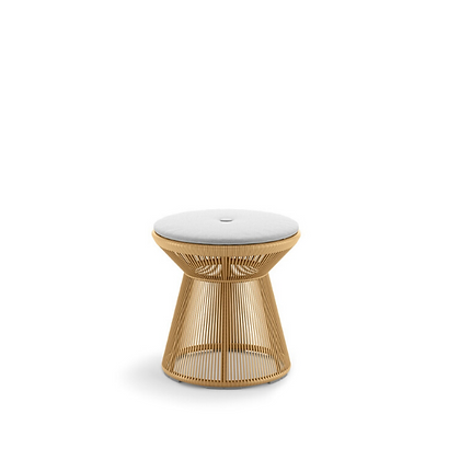 Handmade Wicker Safron Afaf Foot Stool, Side table