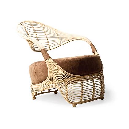Handmade Natural Rattan Kahula kai Easy Arm Chair