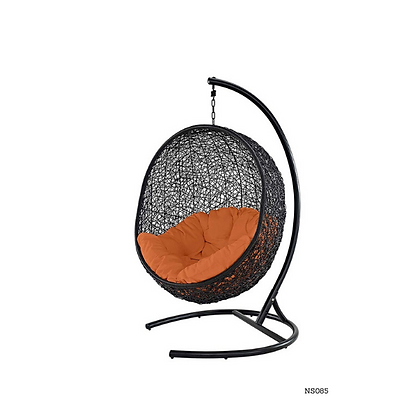 Handmade Wicker Black Nest Swing for Home and Garden  - NS85