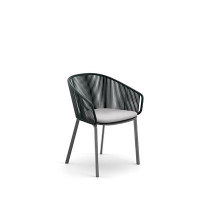 Handmade Wicker Fatan Teal Touch Arm chair