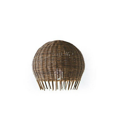 Handmade Natural Rattan Brown Ceiling Lamp for Home, Hotel, Restaurant