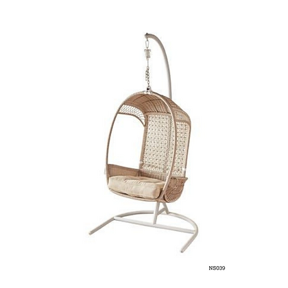 Handmade Natural Rattan Rocking Egg Swing Chair-NS39