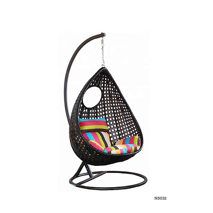 Handmade Rattan, Wicker Nest Egg Swing Chair, Pergola Egg Swing-NS32