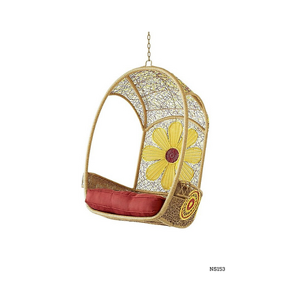 Handmade Natural Rattan Princess Egg Swing Chair-NS153