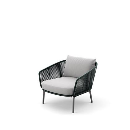 Handmade Wicker Fatan Teal Touch Lounge chair