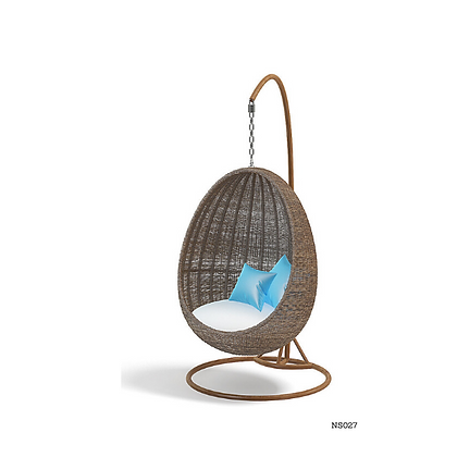 Handmade Rattan, Wicker Hanging Egg Swing Chair-NS27