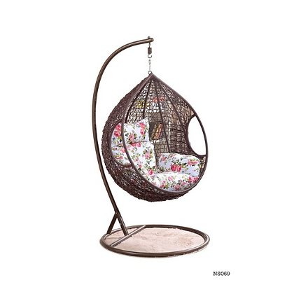 Hanging Egg Chair Swing, Resin Wicker Modern Design, Outdoor Use- NS69