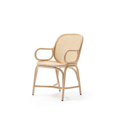 Handmade Natural Rattan Hubun Natural Dining Arm Chair