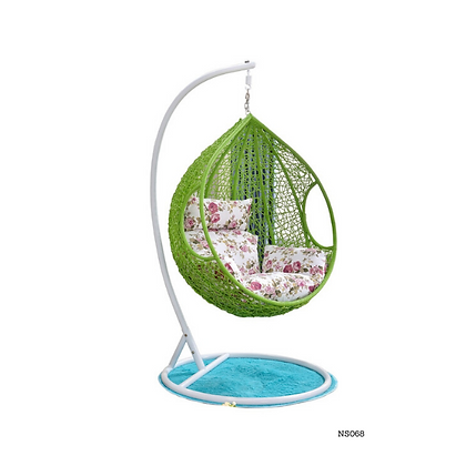 Swing Egg Basket Chair with Curve Stand for Kid's and Adult - NS68