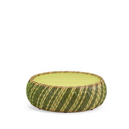 Handmade Wicker Arebic Green Foot stool, Coffee Table, Tea Table