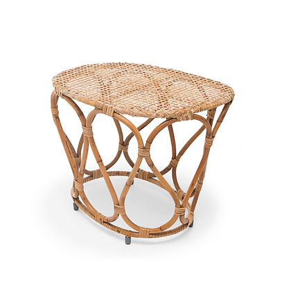 Handmade Natural Rattan Fairy Haloke  End Table