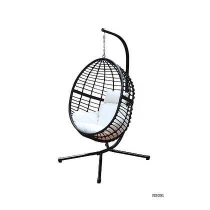 Handmade Rattan Hanging Egg Swing Chair for Indoor and Outdoor- NS91