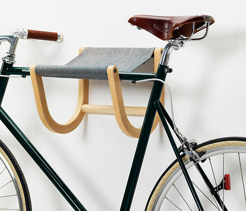 Handmade Wooden Bicycle Stand