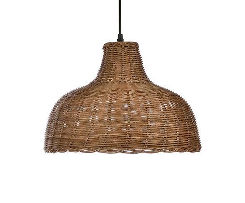 Handmade Natural Rattan Brown Ceiling Lamp