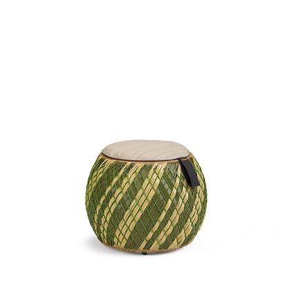 Handmade Wicker Arebic Green stool