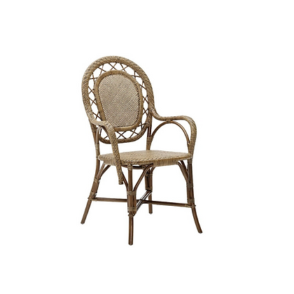 Handmade Natural Rosalee Rosalia Arm Chair