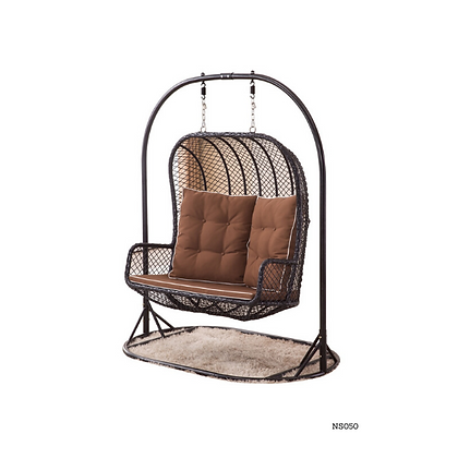 Handmade Egg Swing Sofa Double Seater Brown - NS50