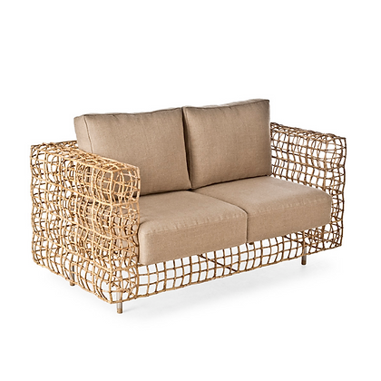 Handmade Rattan Waiola  Love Seat 2 Seater Sofa