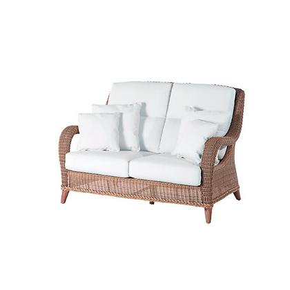 Handmade Wicker Kabir Brown 2 Seater Sofa - KB2S31