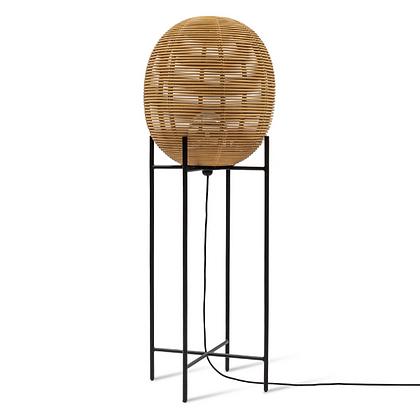 Handmade Natural Rattan Fire Floor, floor Lamp for Home, Hotel, Restaurant
