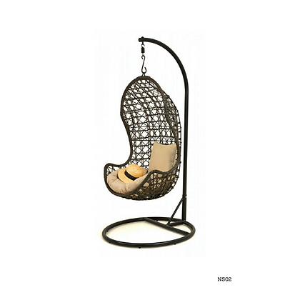 Handmade Patio, Rattan Hanging Swing Chair-NS02