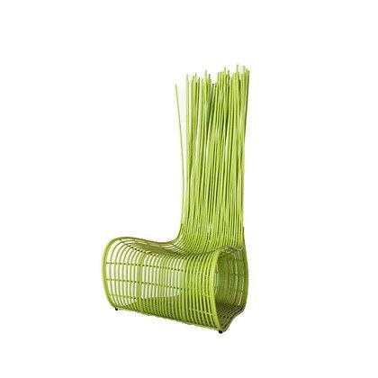 Handmade Wicker Qiana Wattana Easy Chair Green Color