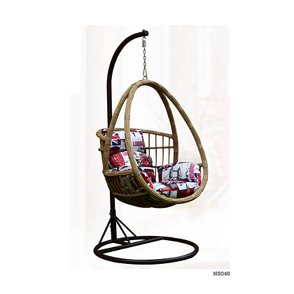 Handmade Natural Rattan Big Edmonton Egg Swing for Garden Furniture-NS46