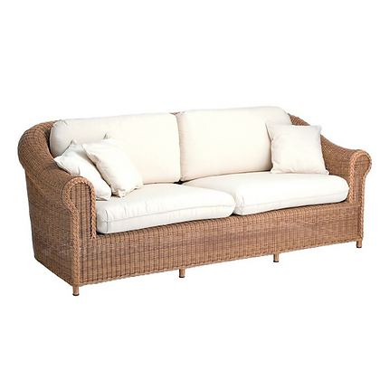 Handmade Wicker Kabir Brown 3 Seater Sofa - KB3S32