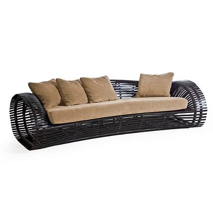 Handmade Rattan Bambi Dahila 3 Seater Sofa