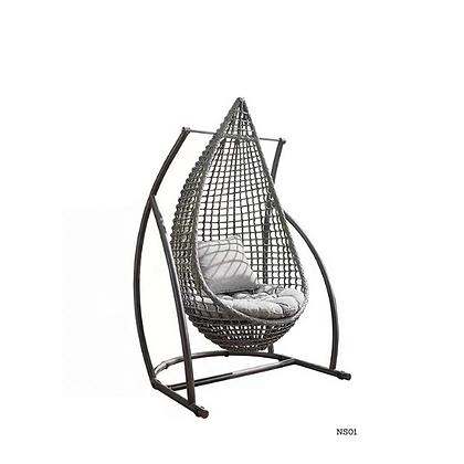 Handmade Rattan Eye Drop Swing Hanging Chair-NS01