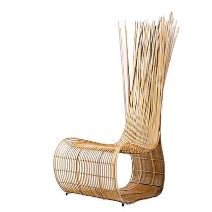 Handmade Wicker Qiana Wattana Easy Chair Natural Color