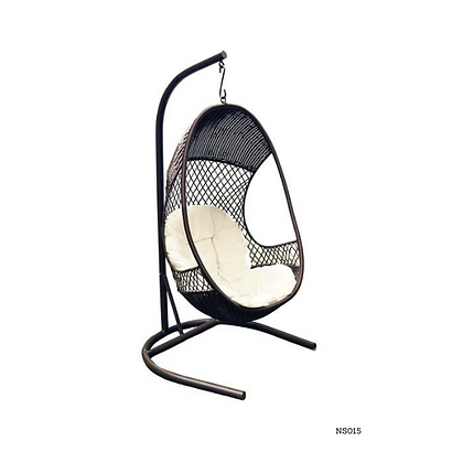 Handmade Rattan, Wicker Hanging Egg Swing Chair With Cushion  - NS15