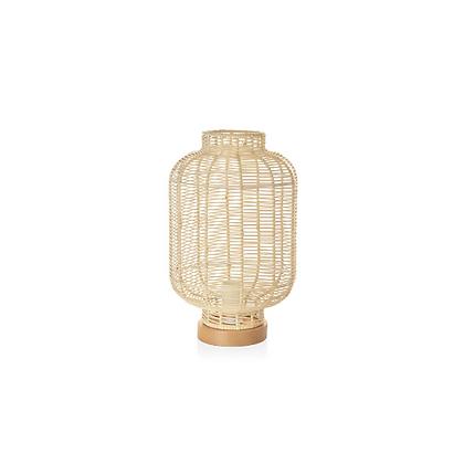 Handmade Natural Rattan, Wood Lamp