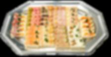 Mini canapés rectangulaires plateau de 50 pièces (assortiment)