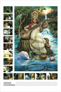 Recreation of Goddess Saraswati, goddess of Knowledge, arts music and science