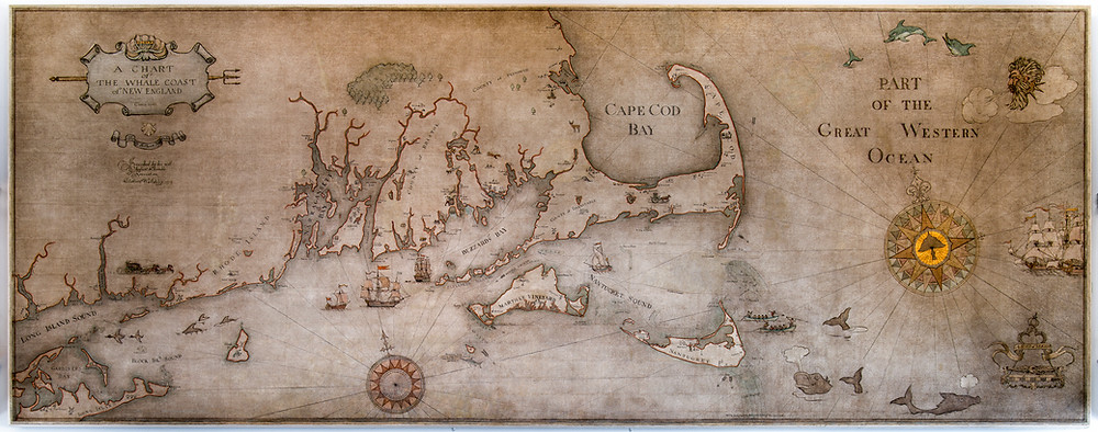 Clifford Ashley's mural depicting the coast of Massachusetts during the whaling era of 1810