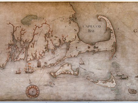 """""""A Chart of the Whale Coast of New England c.1810"""""""