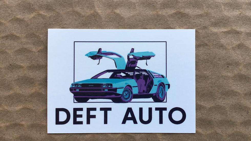 Orie's DeLorean Sticker