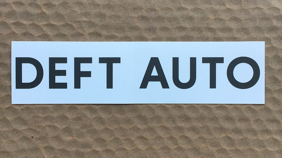 DEFT AUTO Logo Sticker