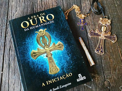 Livro Era de Ouro da Humanidade + Kit com 2 Cruz Ankh Dourada (colar e amuleto)