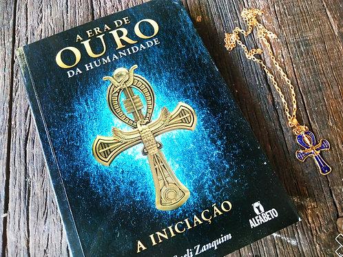 Livro Era de Ouro de Humanidade + Colar Cruz Ankh dourado