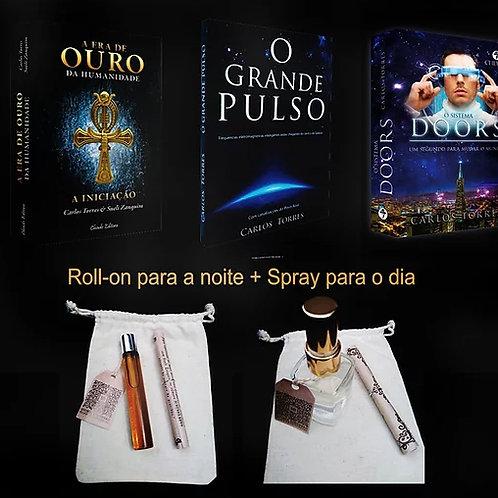 3 Livros Carlos Torres + Kit Óleos Essenciais 5D