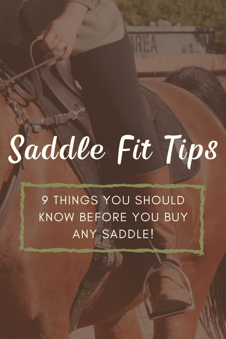 Saddle Fit Tips